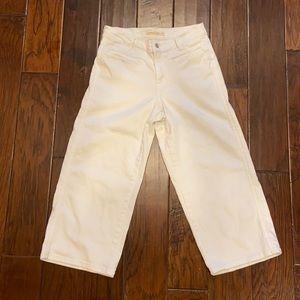 Levi's Classic Wide Leg Crop High Waist White